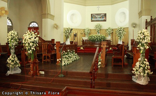 The church decorations helps to ensure that a bride and groom 39s special day