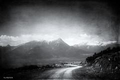 less travelled (♥Tonia♥ & VG photos) Tags: road snow mountains by path less vg travelled blackwhitephotos flickrdiamond vgphotos