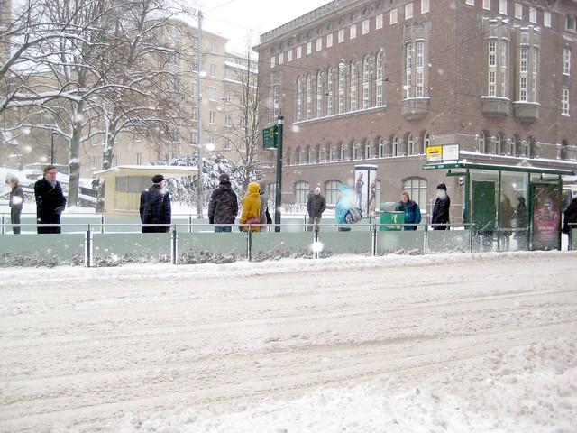 Esperando al tram