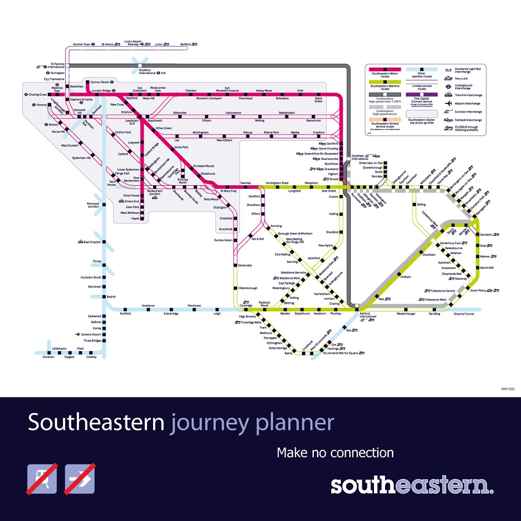 Southeastern Network map - in the snow