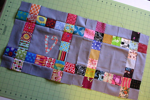 QJRR Block for Victoria with her block