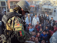 Afghan Air Force distribute humanitarian aid to Kabul neighorhood (NATO Training Mission-Afghanistan) Tags: afghanistan kabul kaia