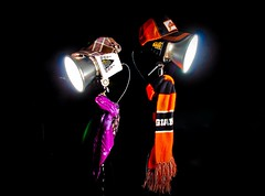 Stand By Me (Jaughn Bearen) Tags: sf black hat scarf stand back nikon couple background alien bee cap giants 24mm shawl speedlight f28 strobe alienbees d90 b400 b800 strobist nikond90 sb900 cybersync jonathanbaron jaughnbearen