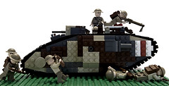 Mark V (Kiwi Artillery (formerly Kip Grenadier)) Tags: tank lego mark brodie v ww1 brickarms