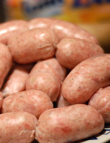 homemade pork sausages/omatehtud vorstid