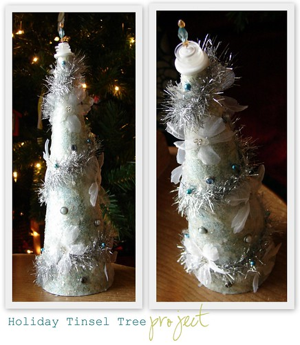 Holiday Tinsel Tree