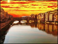 Florence submerged by the colors of the sky - (Firenze)..... Thanks for over 5000+ views (Sugar Mind) Tags: travel sky italy reflection texture colors painting landscape florence europe italia sugar giallo cielo tuscany mind firenze toscana rosso colori riflessi viaggio saariysqualitypictures romaflorence elitegalleryaoi mygearandme mygearandmepremium mygearandmebronze mygearandmesilver mygearandmegold mygearandmeplatinum mygearandmediamond ringexcellence dblringexcellence