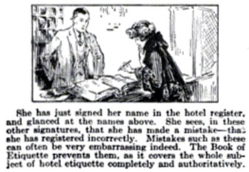 The Hotel Register Etiquette Mistakes Pop Mech Nov 1922