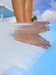 Feet By The Pool (Alex Bramwell) Tags: blue summer vacation holiday feet water pool toes underwater sunny swimmingpool exotic tropical poolside