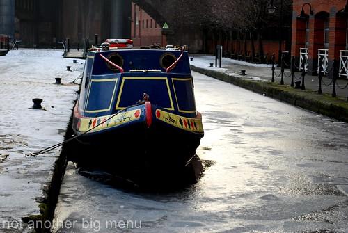 Manchester frozen canal