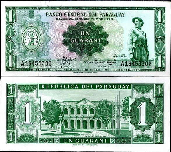 1 Guarani Paraguaj 1952, P193