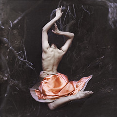 rebirth (brookeshaden) Tags: color tree nature darkness reaching branches peach dancer explore cave elegant frontpage desat ornade brookeshaden texturesbylesbrumes