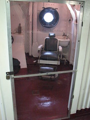 Barber and/or dentist chair on the USS Olympia (FranMoff) Tags: boat chair ship navy barber olympia dentist cruiser uss c6 ca15 protectedcruiser cl15 ix40