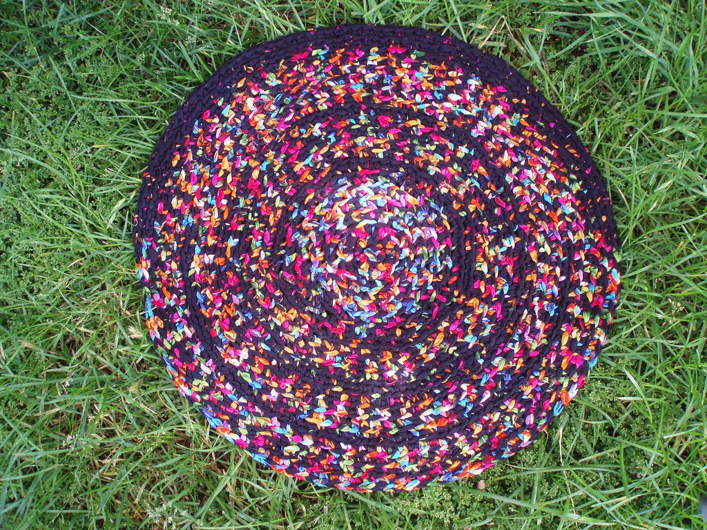 Colourful Crocheted Mat