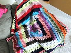 scrappy progress (caseyplusthree) Tags: crochet logcabin blanket afghan granny scrap