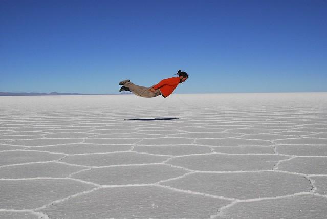 Volando en Uyuni