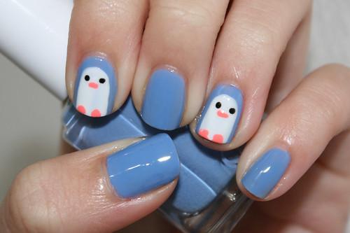 Nail Art: Winter Penguins