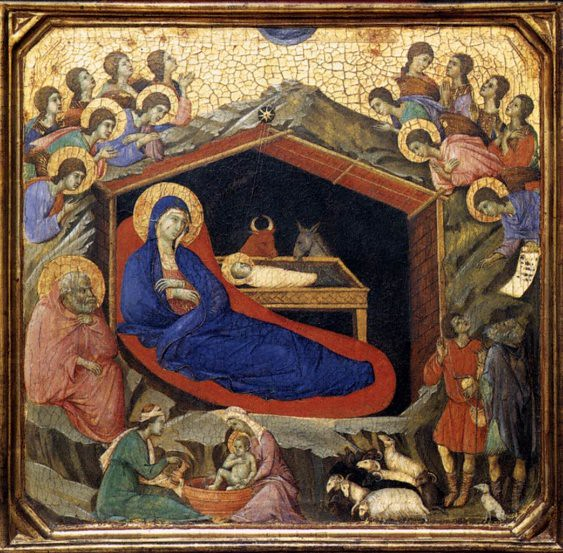 The Nativity with the Prophets Isaiah and Ezekiel (detail)
