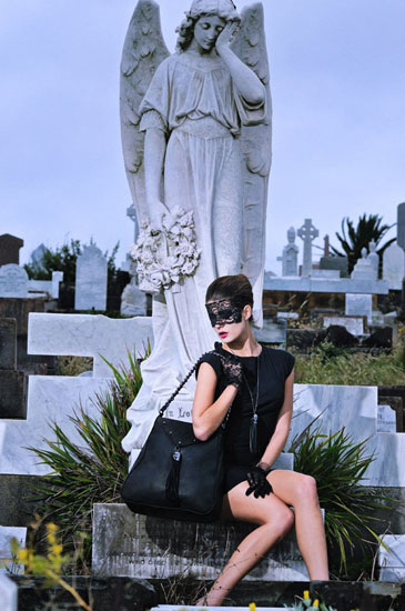 Gothic Fashion Photography by Kent Johnson, Love & luck, Skull and Bones Campaign