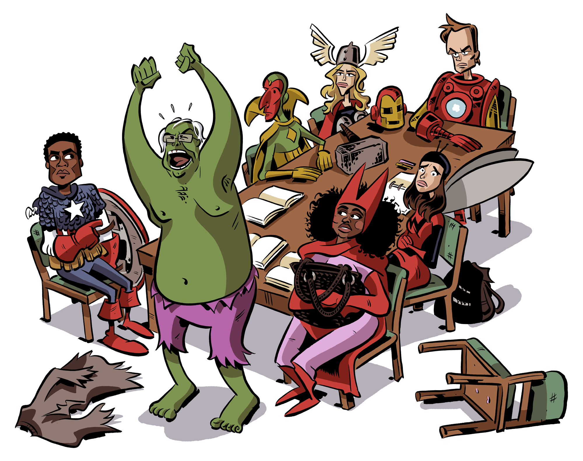 Avengers Cartoon Drawings Draw Them as The Avengers