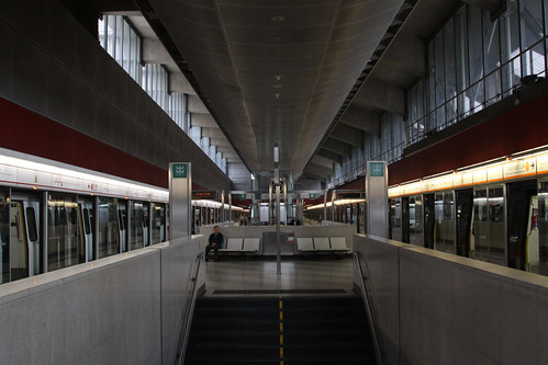 Northbound platforms at Lai King station