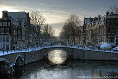 Winter in Amsterdam #1 (Marc Haegeman Photography) Tags: winter netherlands amsterdam nederland bridges canals grachten hdr reguliersgracht bej bestofblinkwinners
