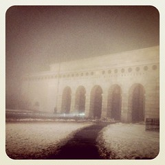 Fog at Heldenplatz (macmaniac-at) Tags: square squareformat iphoneography foursquare:venue=299819 instagramapp uploaded:by=instagram