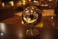 Spherical self (maistora) Tags: christmas camera xmas travel light holiday selfportrait color colour reflection metal ball turkey festive table pepper lights restaurant hotel design airport waiting holidays shiny photographer hand bokeh designer interior sony seasonal salt decoration balls istanbul reflect chrome pocket decor reflexions stranded stainless polished seson maistora nex5