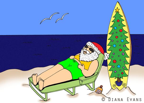 surfer santa