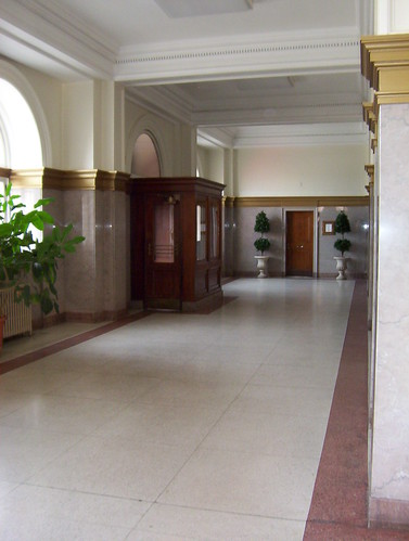 east part of main lobby with entrance vestibule