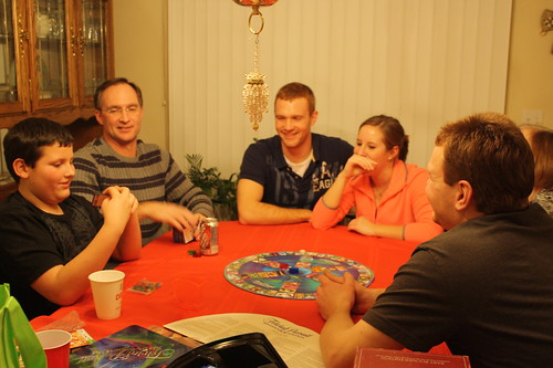 Trivial Pursuit playing at Christmas
