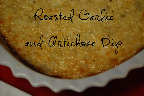 New Year's Eve Appetizers: Roasted Garlic and Artichoke Dip