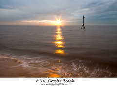 Mile, Crosby beach, Explored (Ianmoran1970) Tags: sunset sun colour beach water canon landscape surf explore crosby explored ianmoran ianmoran1970