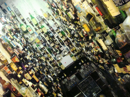 Impressive wall of bottles! @ Kebeer, Brighton Beach.