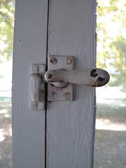 flip latch (birchloki) Tags: wood windows ohio window metal paint latch latches edon edonohio
