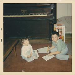 Corey (January 1966) (cseeman) Tags: family playing childhood 1966 scanned oldfamilyphotos seemanfamilyphotos