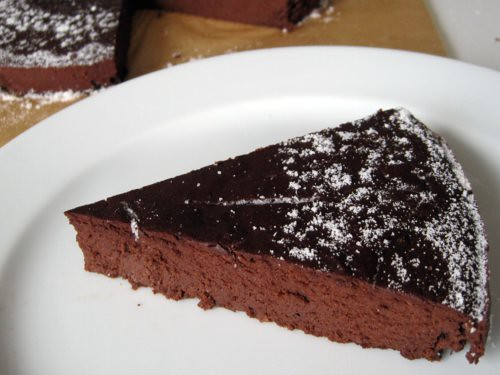 Flourless Chocolate Torte with 'Powdered Sugar' (dairy-free) | Amy ...
