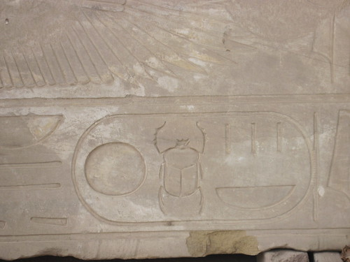 Scarab in Cartouche in Loose Stone
