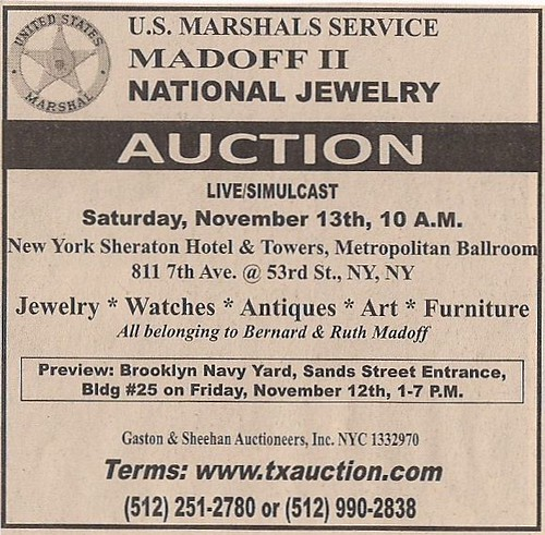 madoff auction advertisement