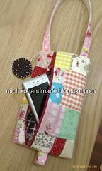 Medium Japanese Patchwork Zipper Pouch (michiko.chee) Tags: japanese phone handmade sewing cell pouch zipper patchwork passport cosmetics wristlet