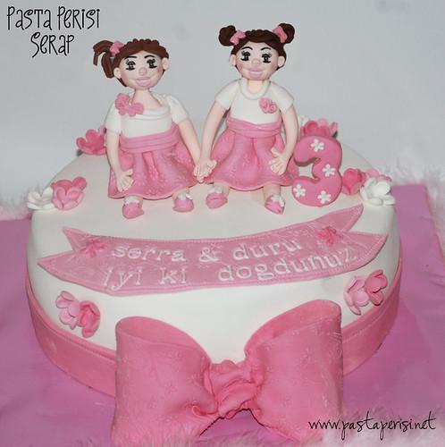 ikizler 3 yaş pastası