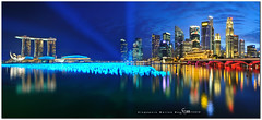 singapore (fiftymm99) Tags: road city bridge urban reflection building marina river lights hotel singapore cityscape colours bank tourist business esplanade laser cbd colourful countdown merlion singaporeriver marinabay singaporeskyline merlionpark marinabaysands nikond300 fiftymm99 gettyimagessingaporeq1