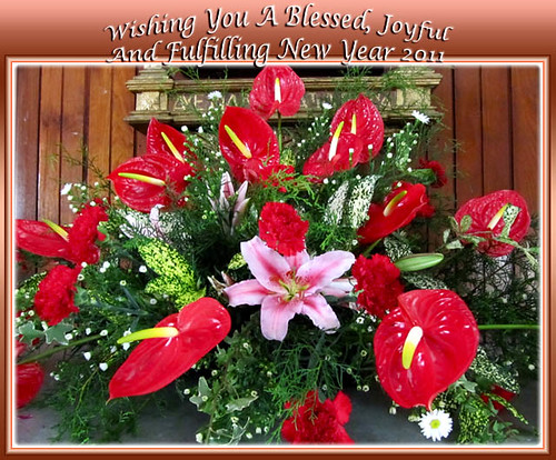 New Year 2011 greeting card