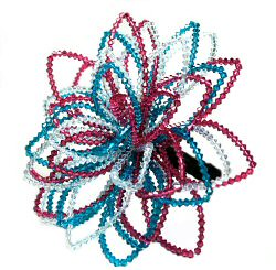 Teal and Fuchsia Crystal Bouquet by Starstruck Designs