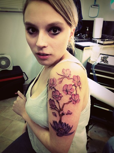 Tattoo Blossom and Tattoo Lotus on Nice Girl