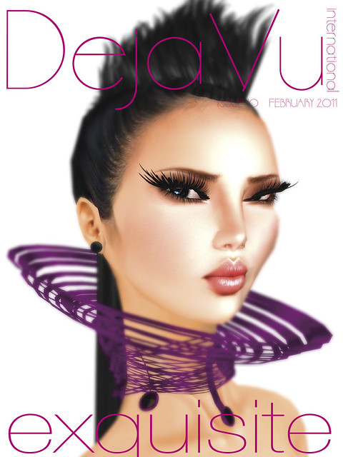 Moi on the cover of FEB 2011 Deja Vu international magazine image by Daije Yiyuan