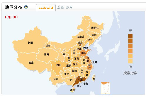 Baidu Index - Map and Region