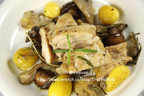雞腿肉佐野菇和馬鈴薯-110107