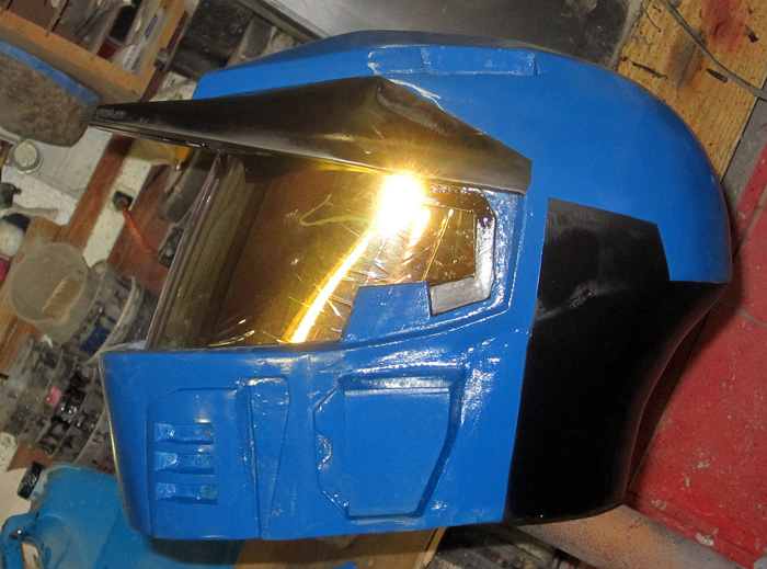 Caboose Helmet test paint 4