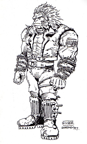 "Kevin Eastman's ""TEENAGE MUTANT NINJA TURTLES"" Artobiography :: Ninja Turtles: The Next Mutation ..""Silver the Gorilla"" concept art (( 1997 ))"